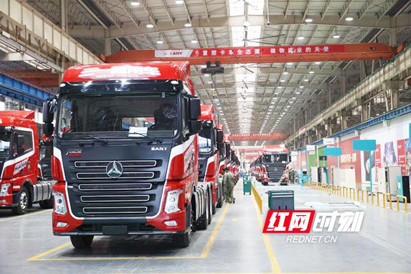 长沙经开区工程机械产业之一三一重工的三一重卡车间。.jpg