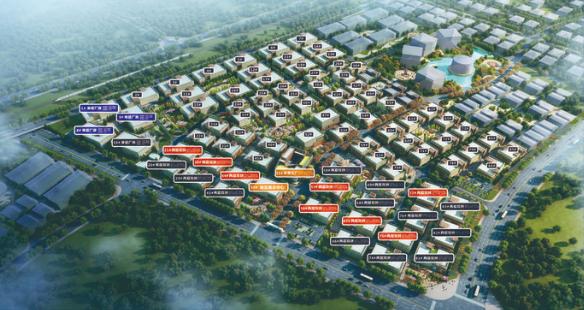 湘潭新松机器人产业园整体规划布局鸟瞰图。