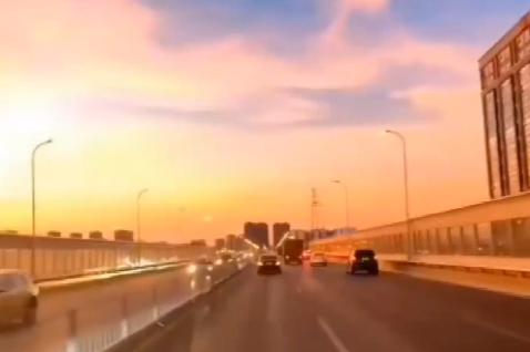 Video: Beautiful sunset in Changsha city, Hunan