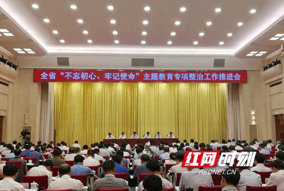 湖南召开主题教育专项整治工作推进会