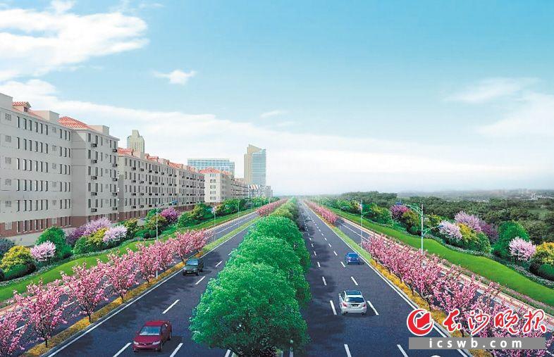 湘江路北延线二期工程效果图