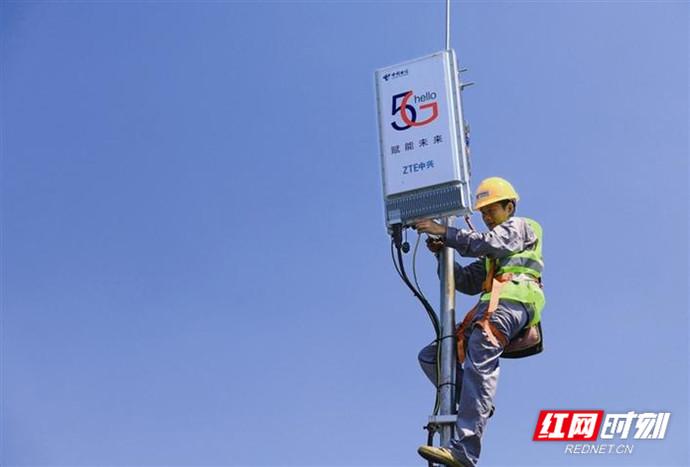 常德第一批5G试验网基站开通