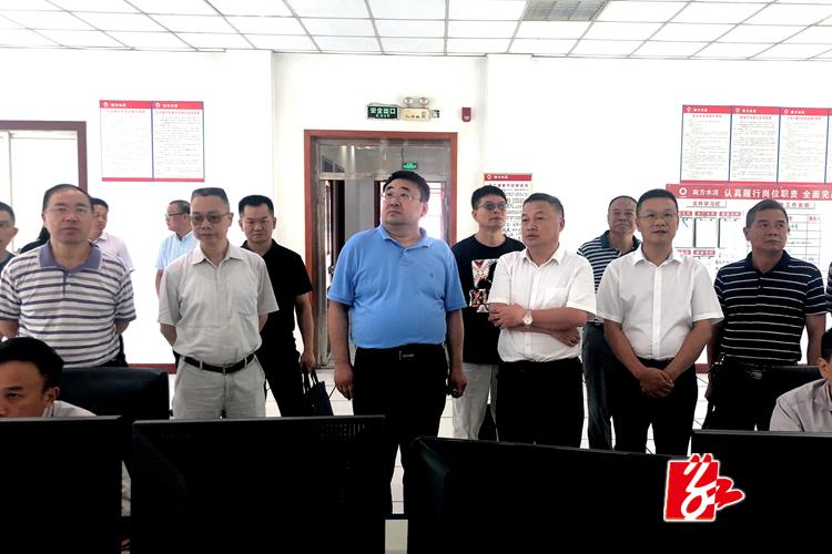 省工信厅原材料工业处党支部到湘乡开展主题党日活动