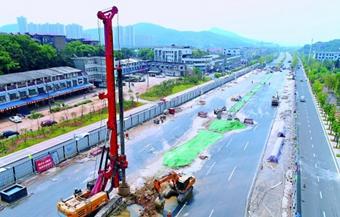 芙蓉大道快改项目(湘潭段)启动桩基施工