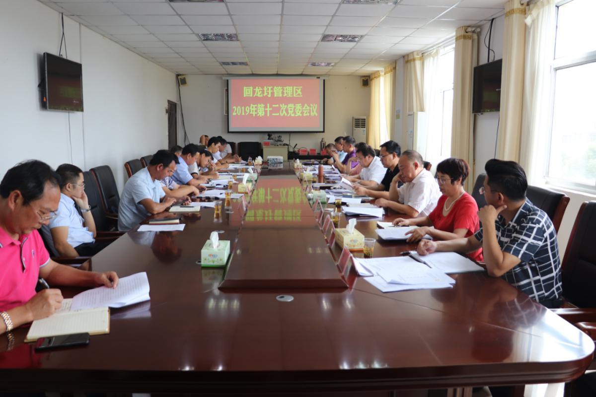 回龙圩管理区召开2019年第十二次党委会议