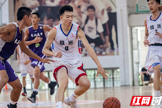 High school basketball competion between mainland and Taiwan held in Zhuzhou