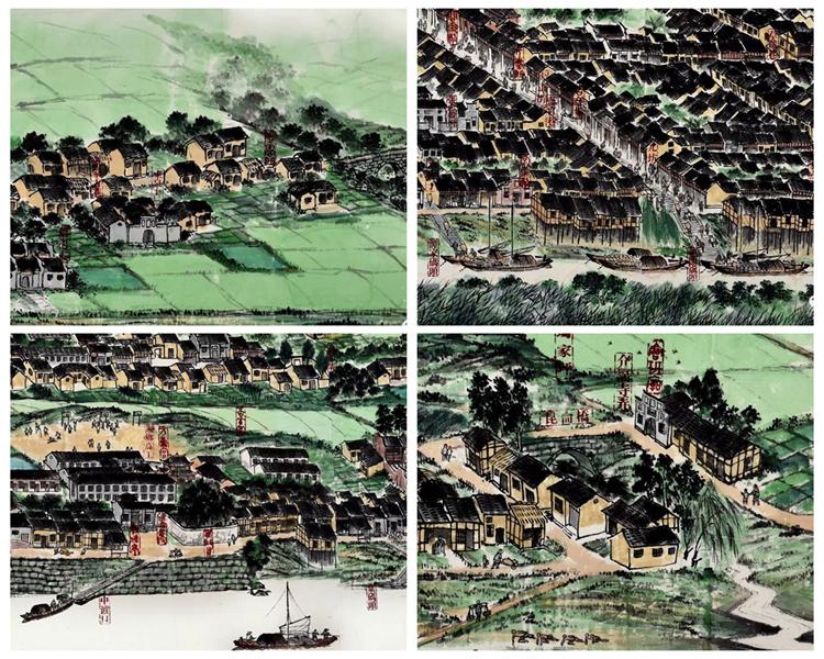 七旬老人历时14年 画出湘乡版《清明上河图》