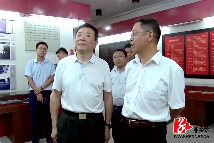 副省长陈飞来我市调研工业经济、大将故居建设等工作