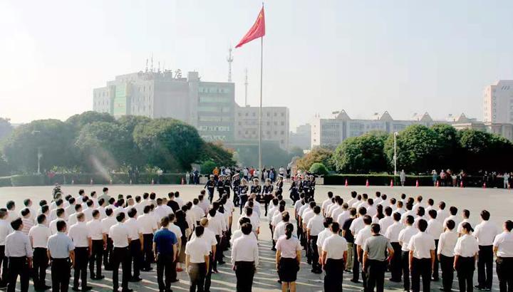 湘潭县举行升国旗仪式  庆祝中华人民共和国成立70周年