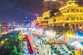 """国内外众多游客打卡""""网红城市""""长沙 假日夜经济:燃!"""