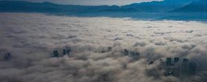 大雾笼罩怀化 宛如天空之城