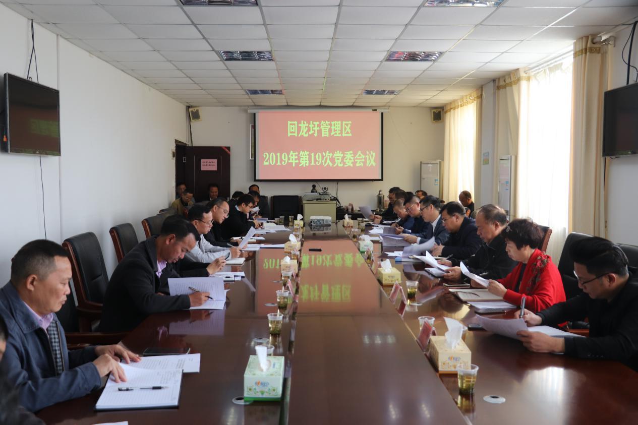 回龙圩:盘志元主持召开2019年第19次党委会议