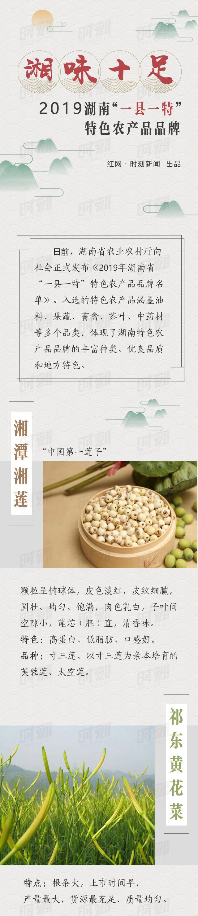 """图解丨湘味十足!2019湖南""""一县一特""""特色农产品品牌"""