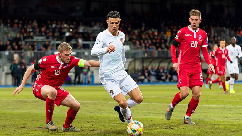 欧预赛-C罗攻入国家队第99粒进球 葡萄牙2-0胜卢森堡
