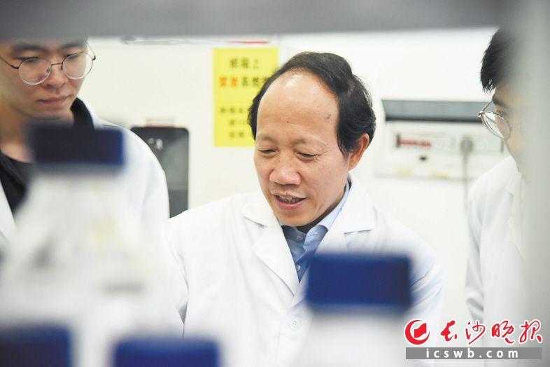 柴立元院士带领团队成员在实验室工作。长沙晚报通讯员 唐潇珺 陈雯 摄影报道