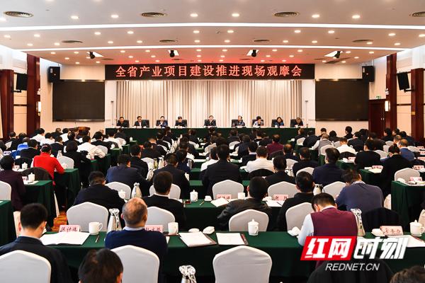全省产业项目建设推进现场观摩会在岳阳召开