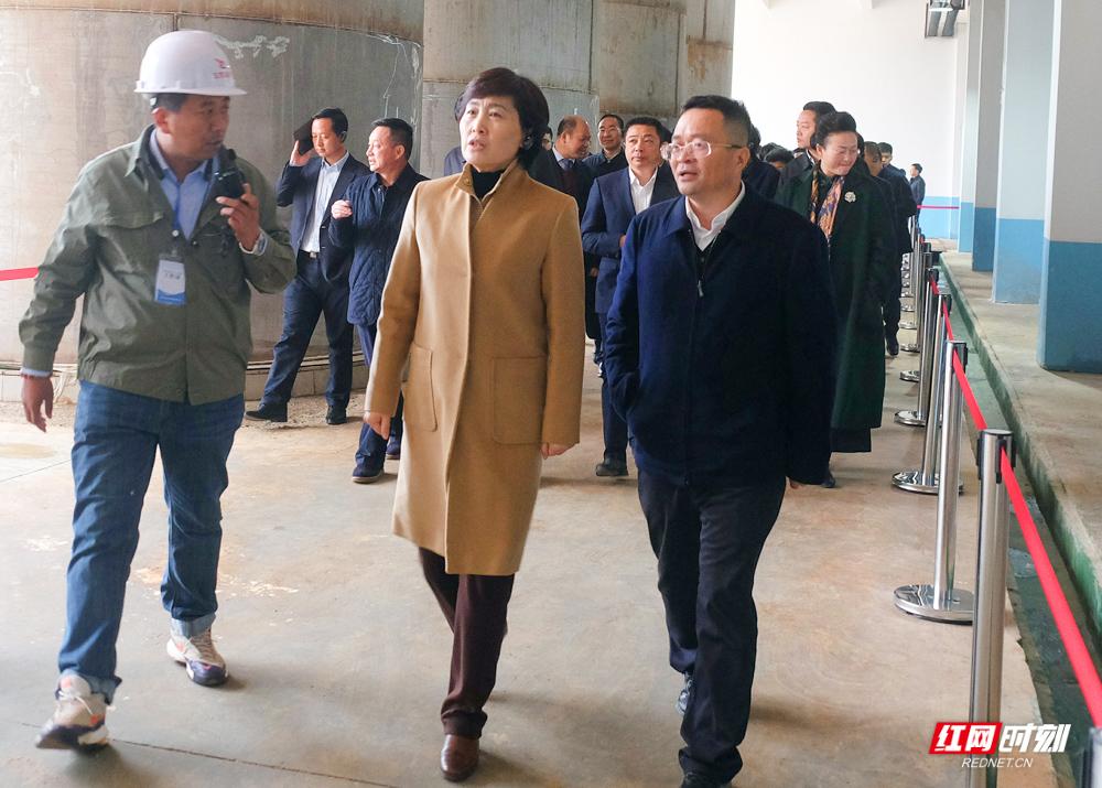岳阳市产业�项目建设流动现场会走进汨罗