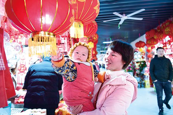 """""""快过年啦,妈妈带我来逛浏阳河市场!"""""""