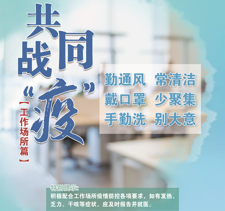 共同战疫海报(工作场所篇)