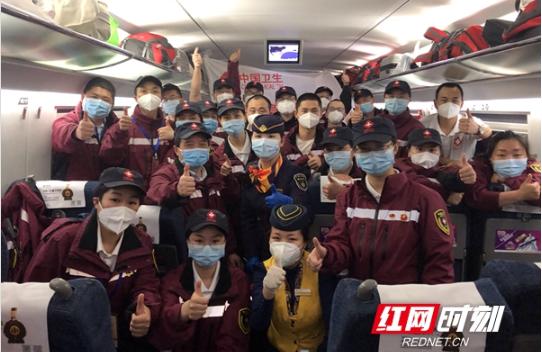 组图丨湘雅二医院国家紧急医学救援队后勤人员抵达长沙