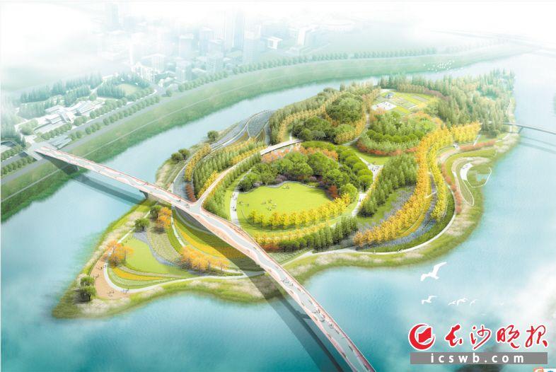步行廊桥(中轴公园-黎托公园)建设工程设计效果图