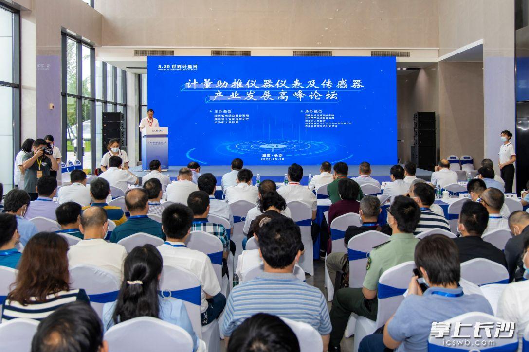 """湖南省首届""""计量助推仪器仪表及传感器产业发展""""高峰论坛在长沙举行。  通讯员  周欣摄"""