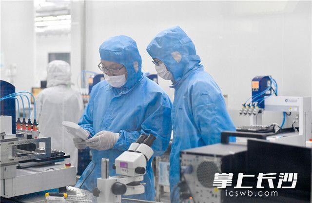 2月10日,望城经开区湖南新视电子技术有限公司开始复工复产,工作人员戴着口罩正在工作。图片均为长沙晚报全媒体记者 邹麟 摄