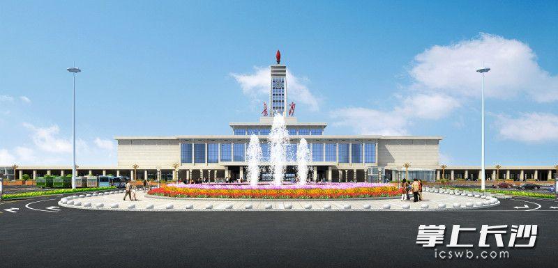 长沙火车站提质改造后的概念性效果图。芙蓉区城管局供图
