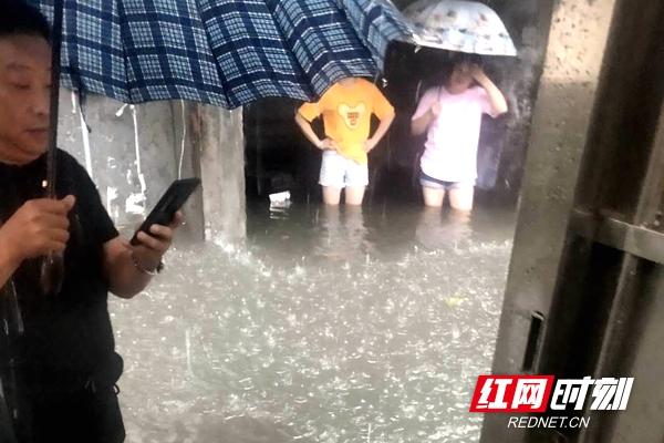"""视频丨瘫痪老人遭洪水围困 澧县快警合力搭建""""生命通道""""营救"""