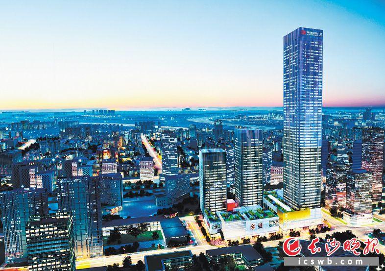 华创国际广场已成为伍家岭商圈的新地标。 伍家岭街道 供图