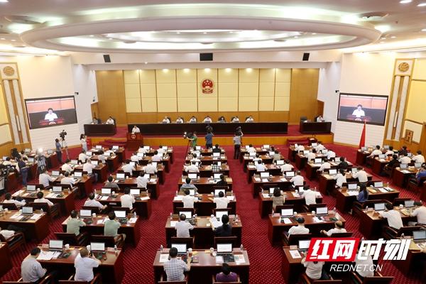 6月12日上午,湖南省十三届人大常委会第十八次会议在长沙闭幕。.jpg