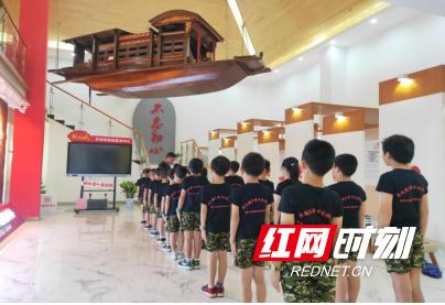 红孩子在桥头社区新时代文明实践站集训.png