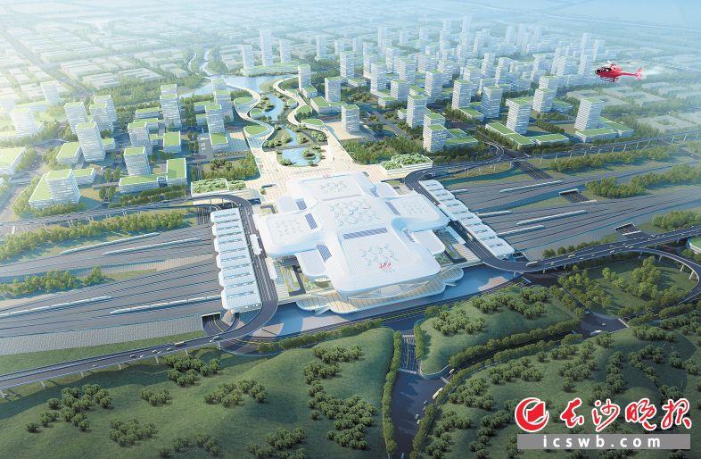 高铁西城将为望城经济社会发展注入强劲动力。
