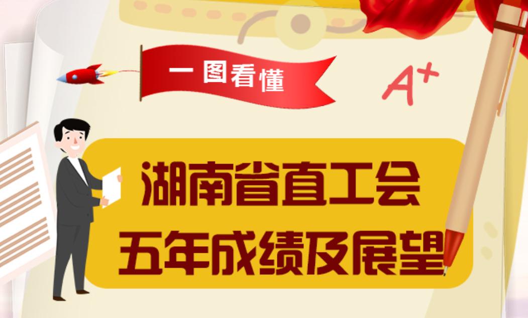 一图读懂!湖南省直工会五年成绩及展望