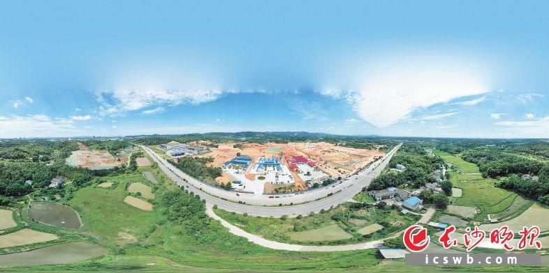 建设中的长沙(金霞)消费电子产业集聚区。