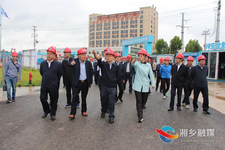 曹炯芳、张迎春一行在湖南中部电力科技产业园观摩,了解项目进度。.jpg