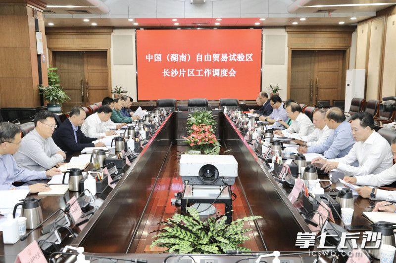 中国(湖南)自由贸易试验区长沙片区工作调度会召开。 刘书勤 摄