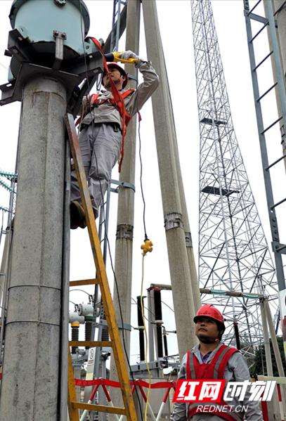 3.变电检修公司员工在110千伏澧县变变电站开展电压互感器介质损耗试验。(程焰)_副本.jpg