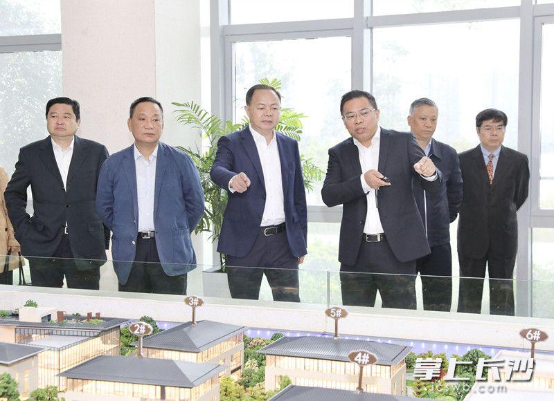 今日,郑建新调研湘江基金小镇和麓谷基金广场。刘书勤 摄