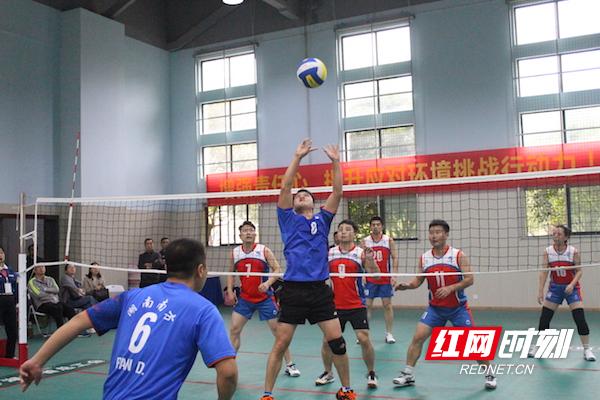 湖南有色冶金工会直属单位第一届职工气排球大赛精彩开赛