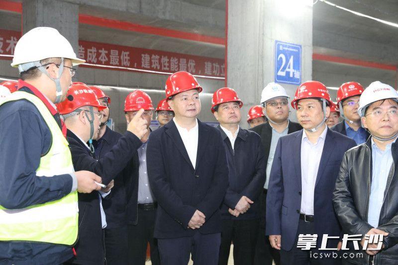 郑建新调研稳投资及重大基础项目建设情况。 长沙晚报通讯员 刘书勤 摄