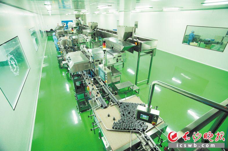 九芝堂和浙江大学的合作由来已久。图为双方共同研发建设的智能工厂生产线。企业供图