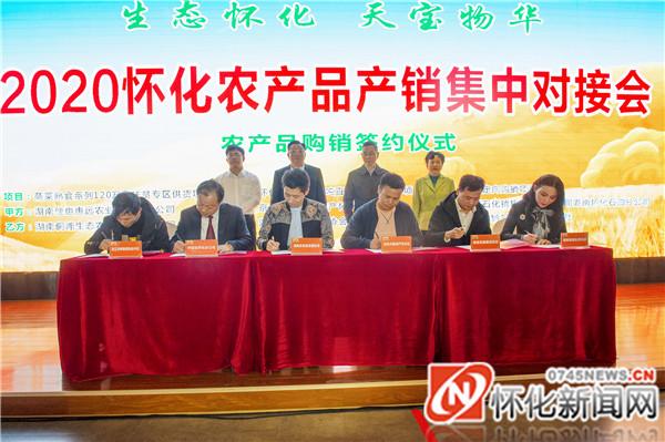 农产品购销签约仪式(记者 杨智伟 摄)