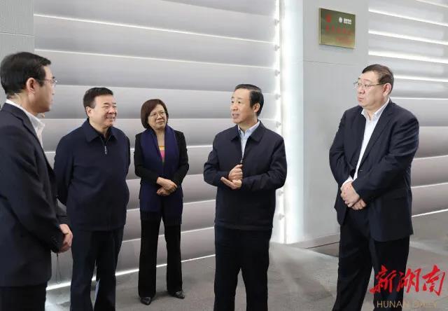 """许达哲在国网湖南省电力公司调研:为实施""""三高四新""""战略提供可靠电力保障"""