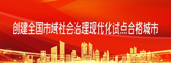 创建全国市域社会治理现代化试点合格城市