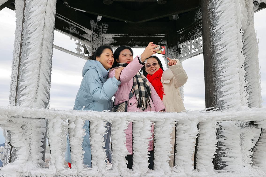临武县:通天山雪景入画来