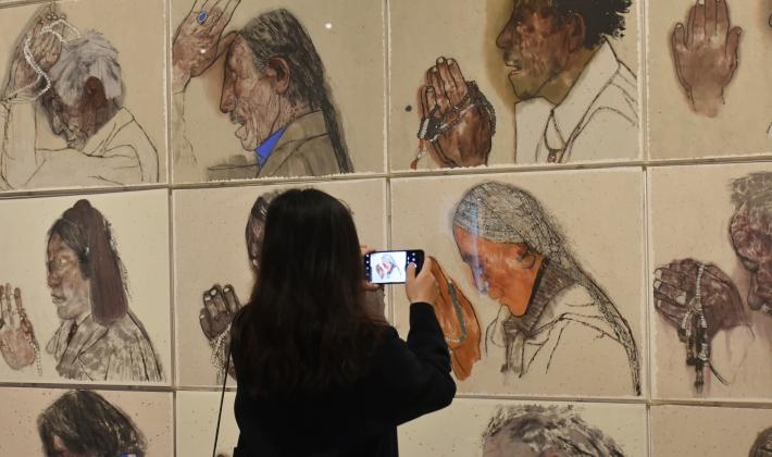 """来自内蒙古的他 有幸观看到了第二届""""湖南·中国画双年展"""""""