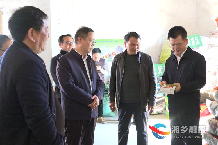 何俊峰在新三湘供销农资有限公司东郊配送站督查指导春耕备耕工作。.png