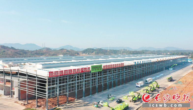 中联智慧产业城挖掘机械智能制造园区六大厂房主体工程已全部完工,预计6月30日开园。  长沙晚报通讯员  张恬 供图
