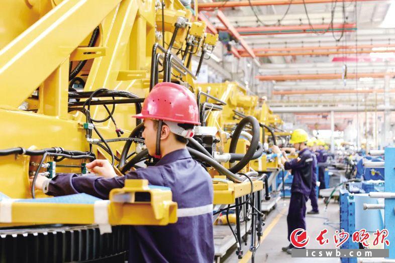 三一集团长沙产业园正月初六全面复工。  企业供图